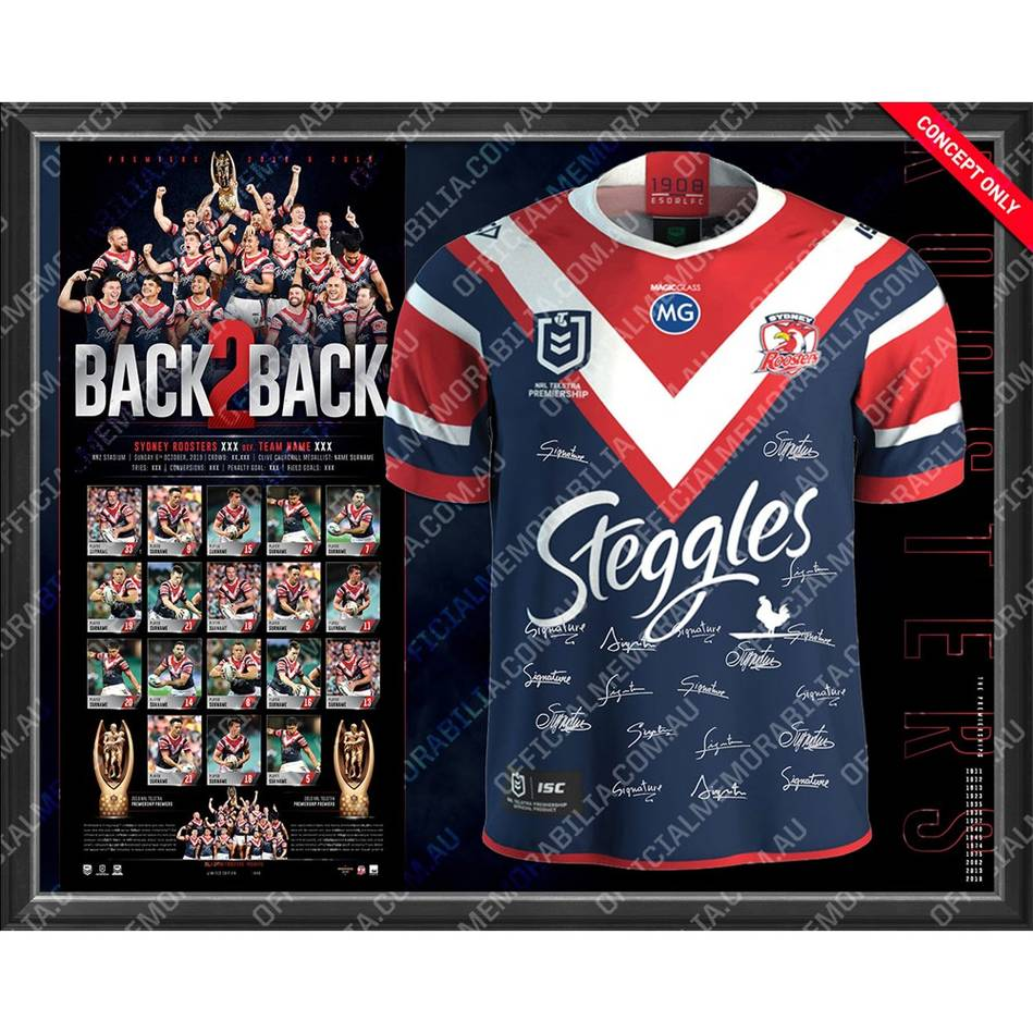 main*Pre-Order* Sydney Roosters 2019 Premiers Team Signed Jersey0