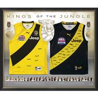 Richmond 2017 & 2019 Premiers Dual Team Signed Jumper Display0