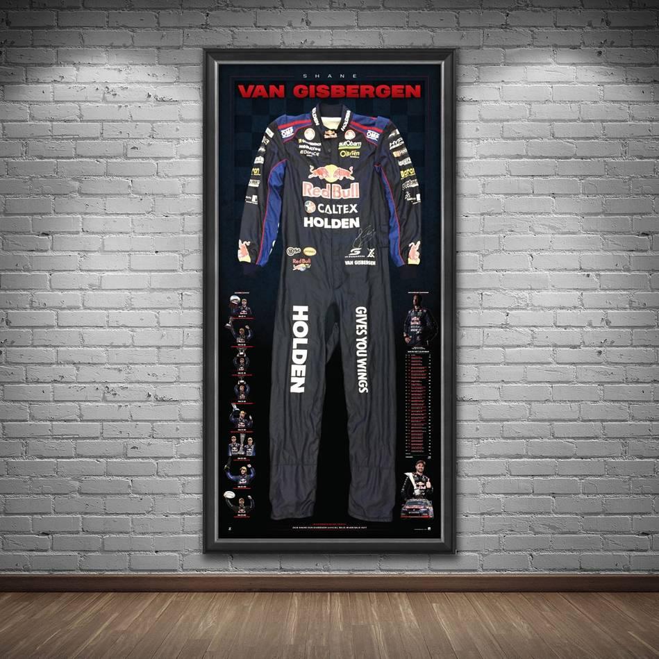 mainShane Van Gisbergen Signed 2016 V8 Supercars Championship RBRA Race-Worn Suit1