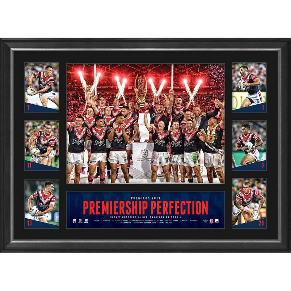 Sydney Roosters 2019 Premiers Tribute Frame0