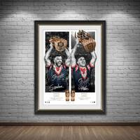 Sydney Roosters 2019 Premiers Dual Signed Icon Series1