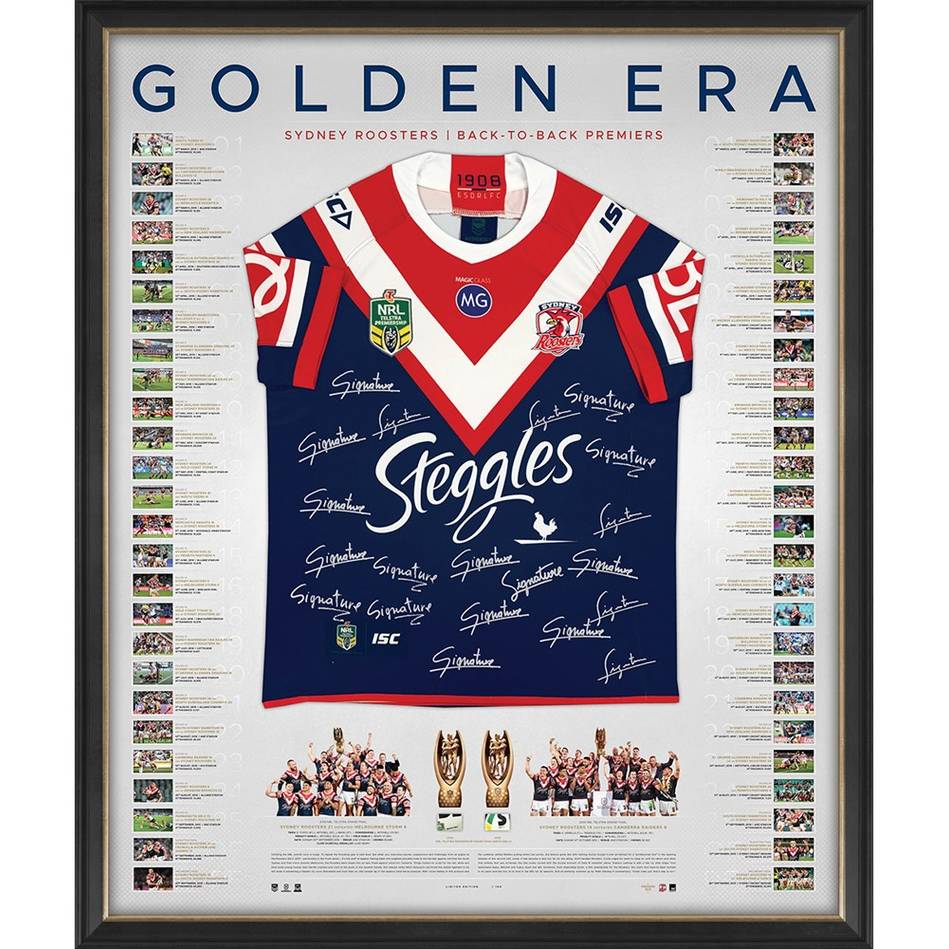 mainSydney Roosters 2018/19 Premiers Team Signed Back to Back Jersey0