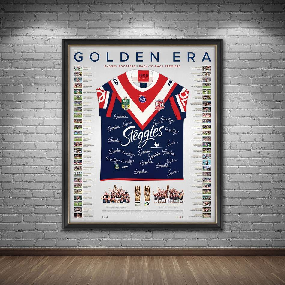 mainSydney Roosters 2018/19 Premiers Team Signed Back to Back Jersey1