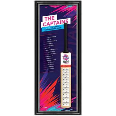 2016 ICC CAPTAINS SIGNED BAT
