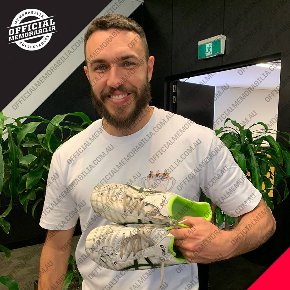 mainShane Edwards 2019 Grand Final Signed Match-Worn Boots0