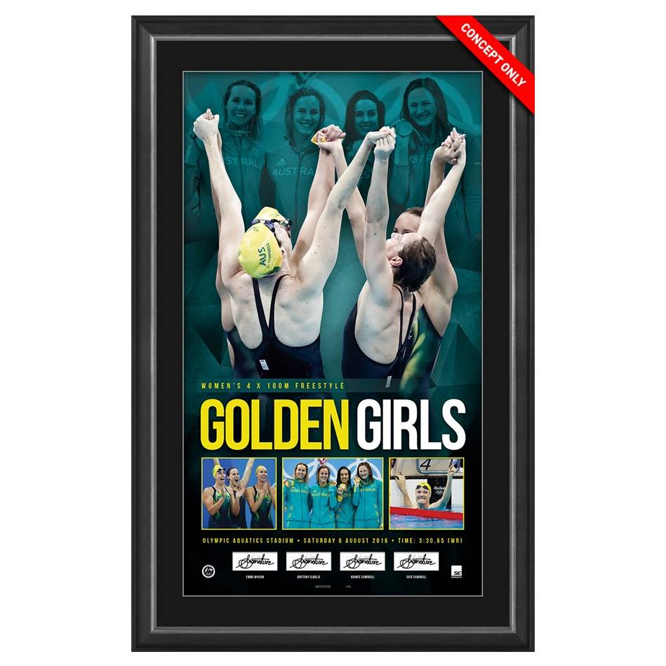 GOLDEN GIRLS SIGNED OLYMPIC CHAMPIONS0