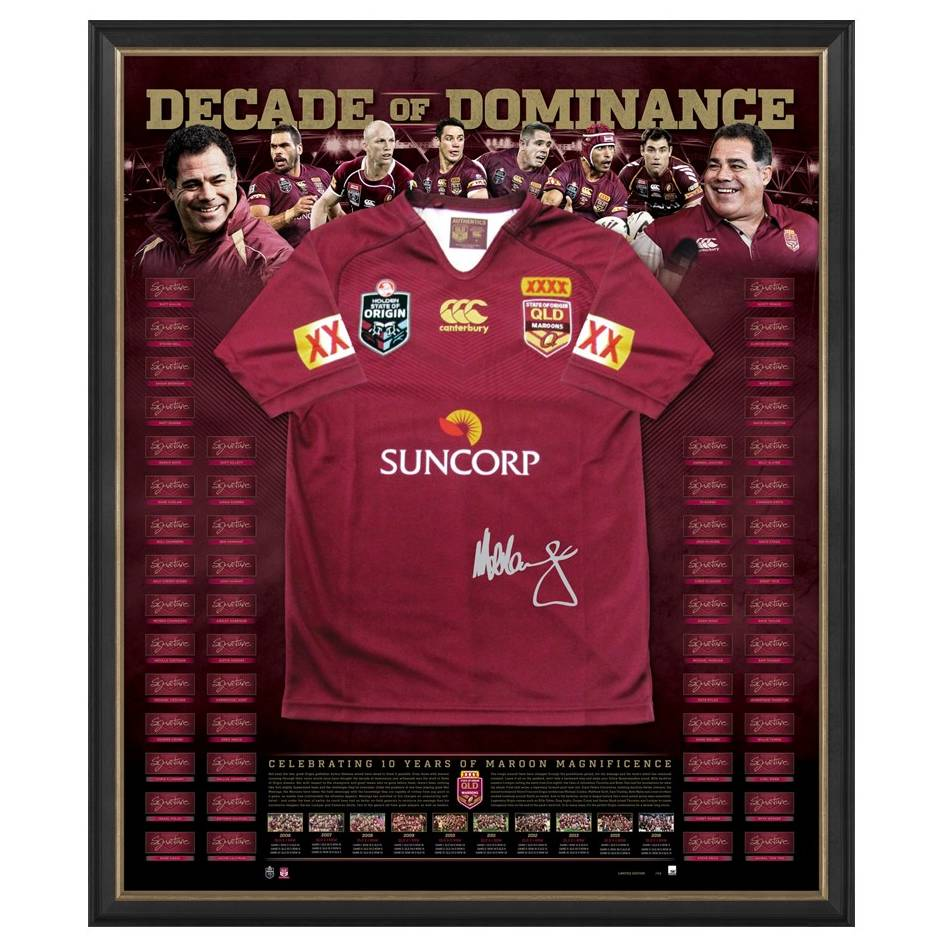 mainDECADE OF DOMINANCE SIGNED QLD JERSEY0
