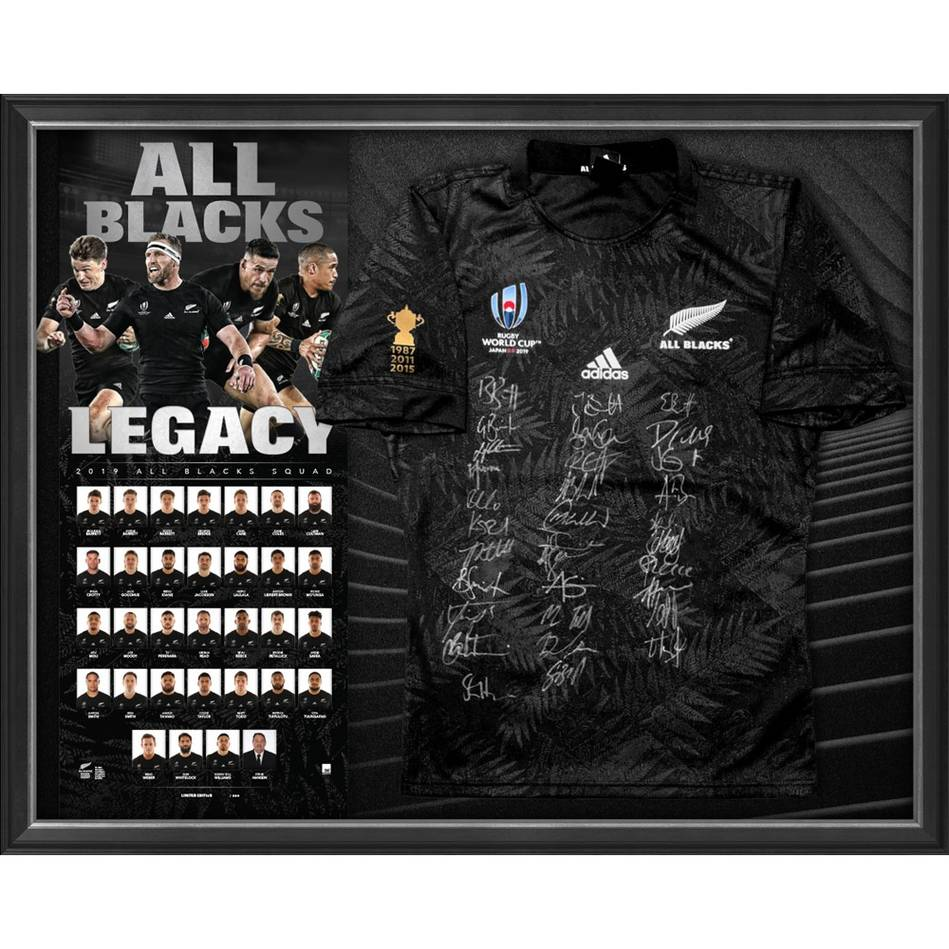 mainNZ ALL BLACKS 2019 Squad Signed Jersey0