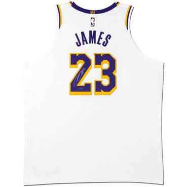 LeBron James Signed Los Angeles Lakers White Jersey