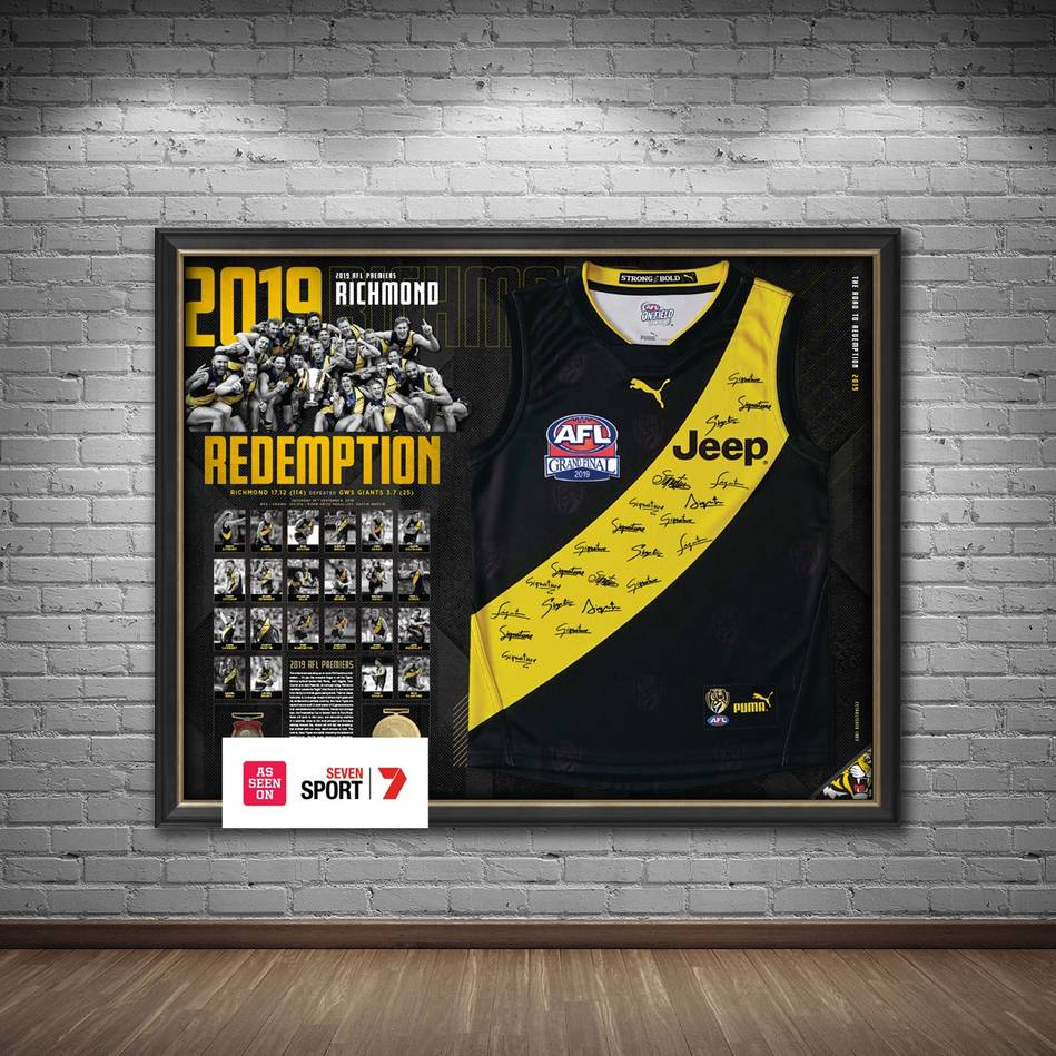 mainRichmond 2019 Premiers Team Signed Guernsey1