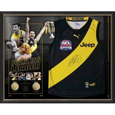 Trent Cotchin Triple-Premiership Captain Signed Guernsey