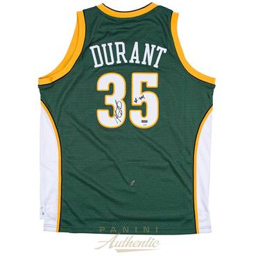 Kevin Durant Signed Seattle Sonics Jersey