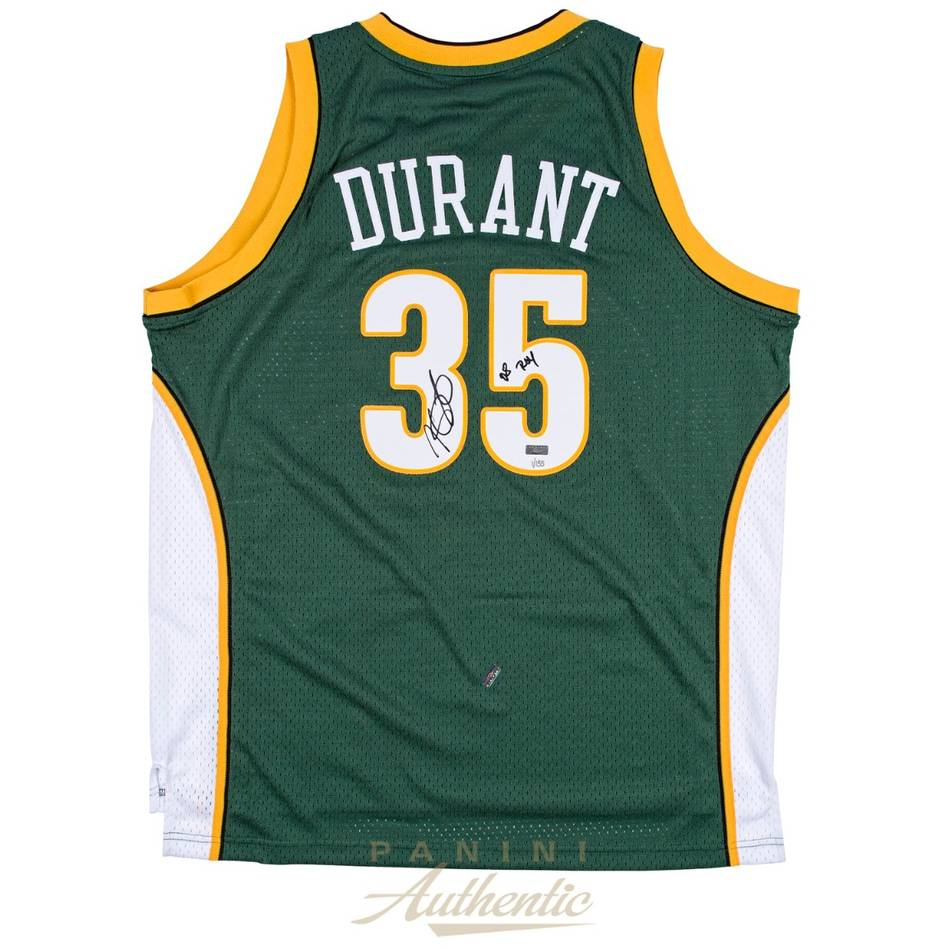 mainKevin Durant Signed Seattle Sonics Jersey0