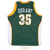 Kevin Durant Signed Seattle Sonics Jersey0