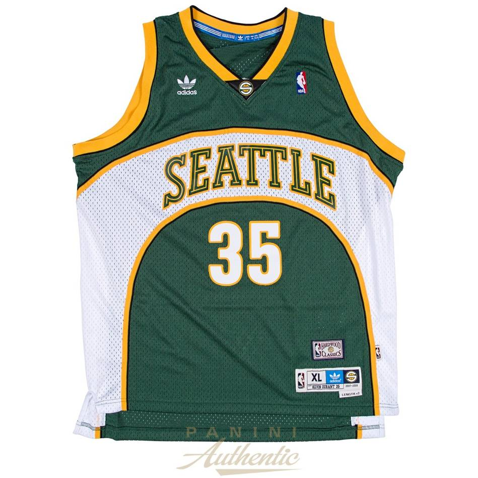 mainKevin Durant Signed Seattle Sonics Jersey1