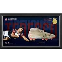 James Tedesco Signed Match-Worn Boot Display0