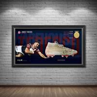James Tedesco Signed Match-Worn Boot Display1