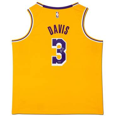 Anthony Davis Signed Los Angeles Lakers Gold Jersey