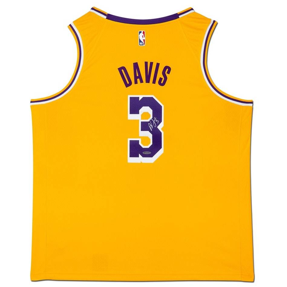 mainAnthony Davis Signed Los Angeles Lakers Gold Jersey0