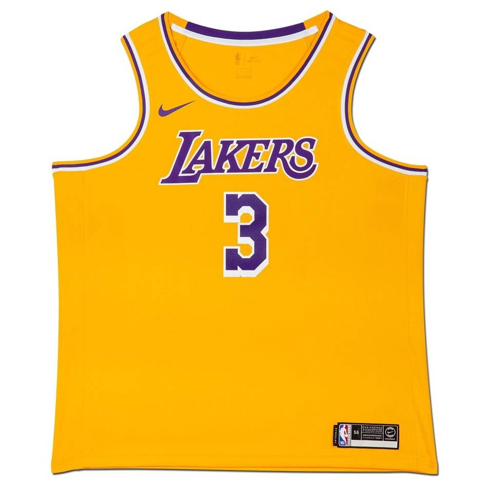 mainAnthony Davis Signed Los Angeles Lakers Gold Jersey1