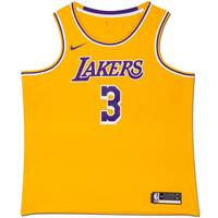 Anthony Davis Signed Los Angeles Lakers Gold Jersey1