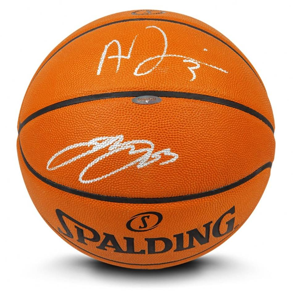 mainLeBron James & Anthony Davis Signed Basketball0