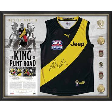 Dustin Martin Signed Deluxe Guernsey Display