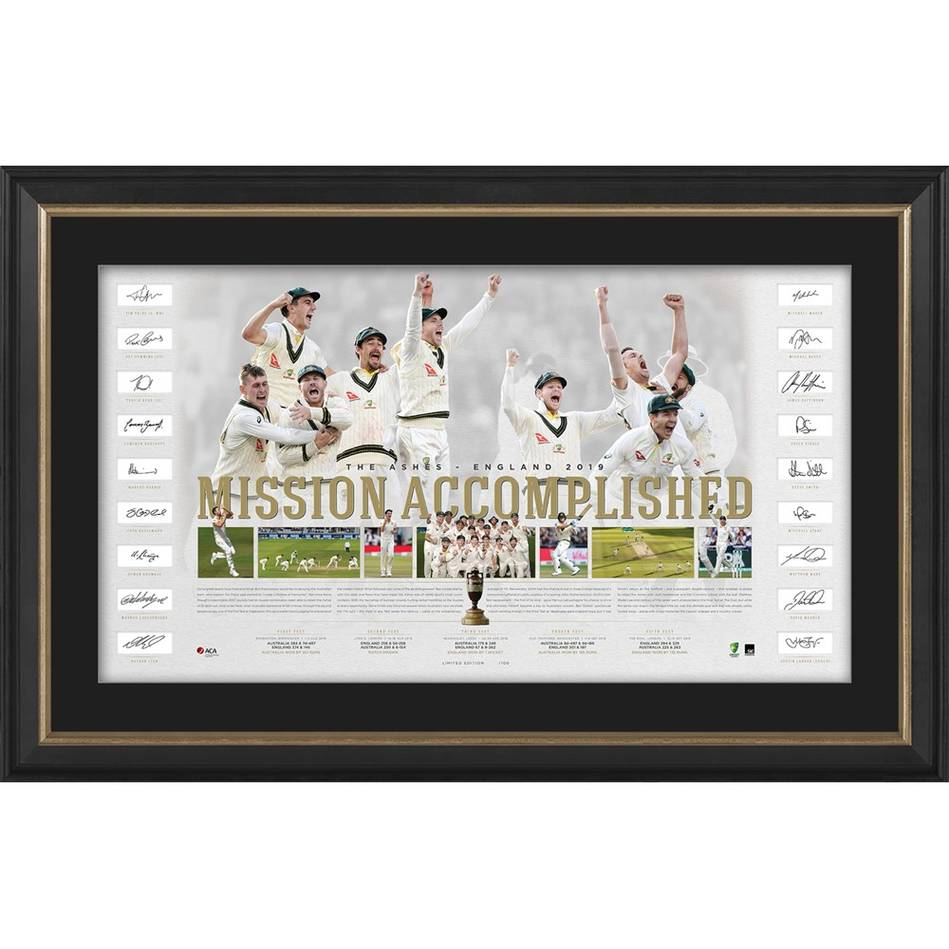 mainAustralia Team Signed Ashes Success Lithograph0