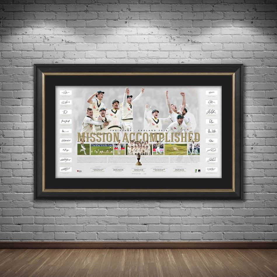 mainAustralia Team Signed Ashes Success Lithograph1