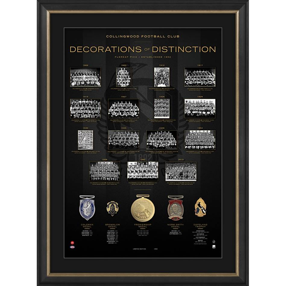 mainCollingwood Football Club 'Decorations of Distinction'0