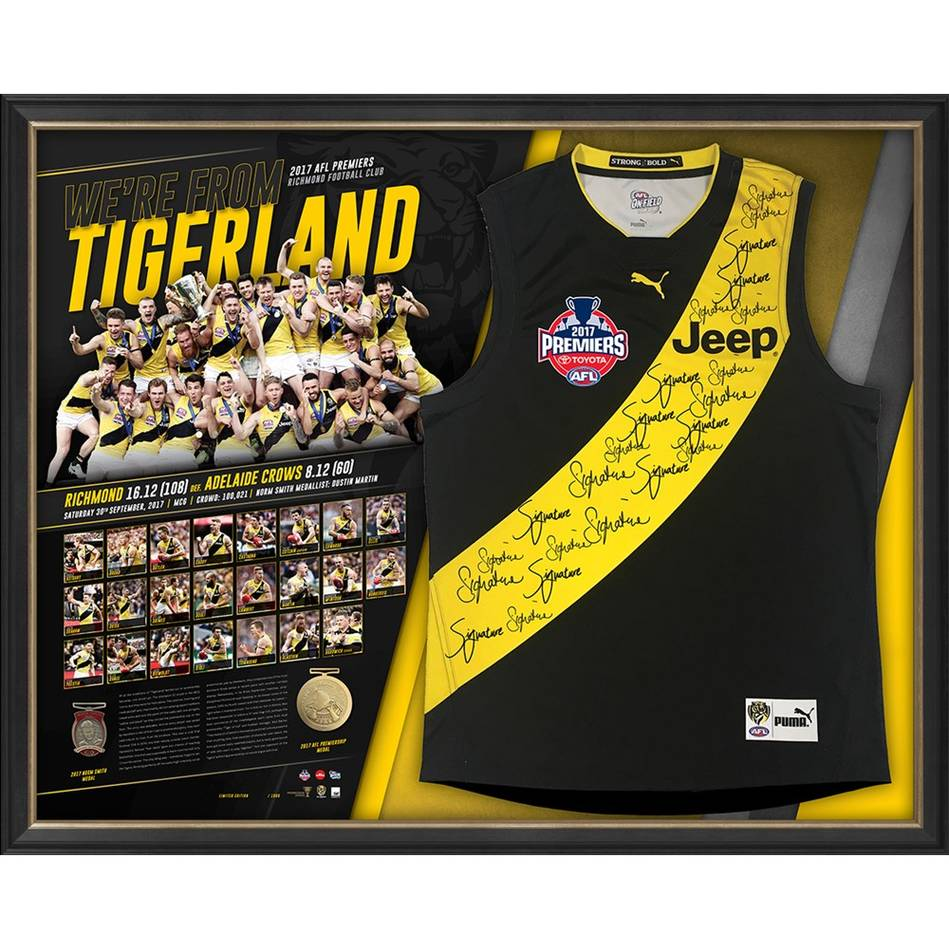 mainEDITION #1 – Richmond 2017 Premiers Team Signed 'We're from Tigerland'0
