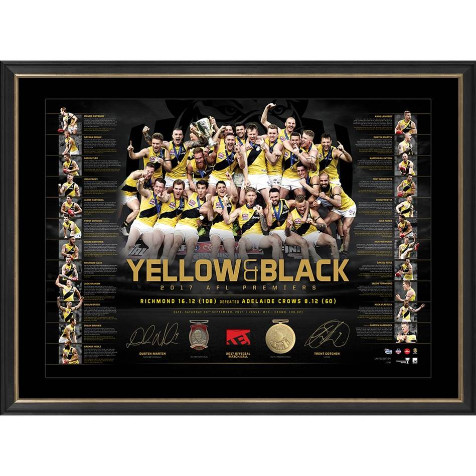 mainEDITION #1 – Richmond 2017 Premiers Dual Signed 'Yellow & Black'0