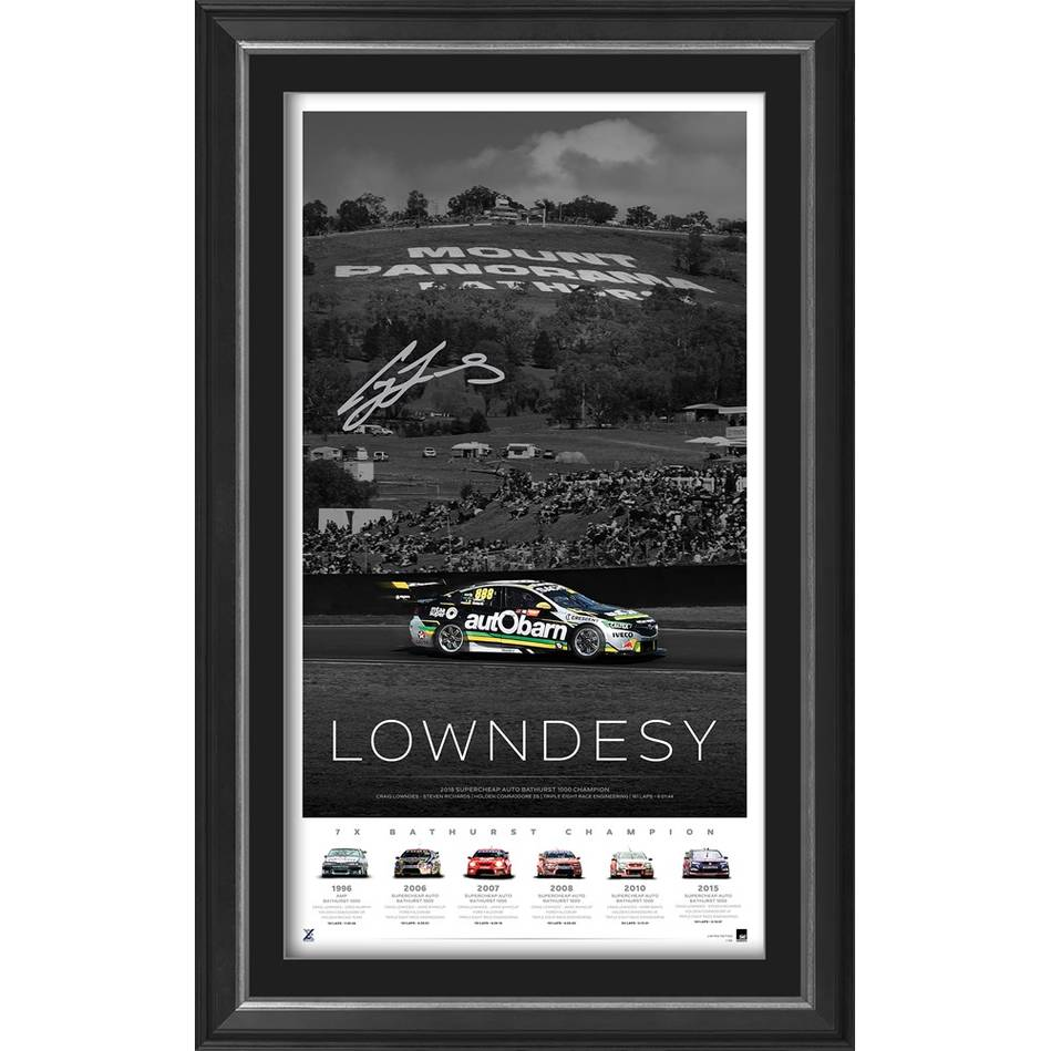 EDITION #1 – Craig Lowndes Signed 'Lowndesy'0