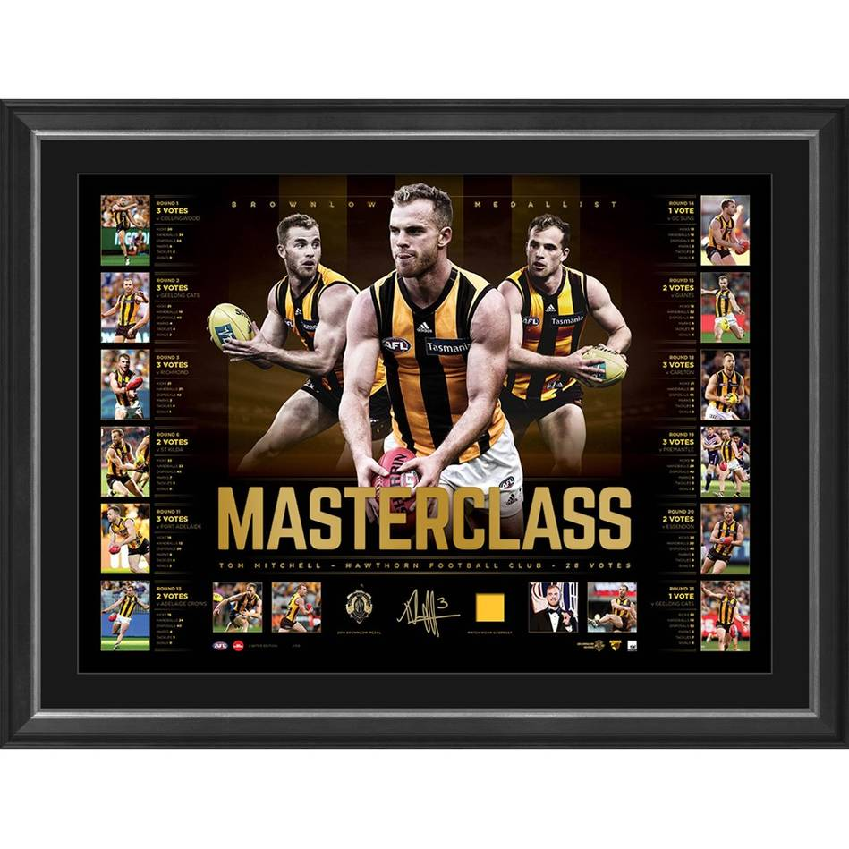 mainEDITION #1 – Tom Mitchell 2018 Brownlow Signed 'Masterclass'0