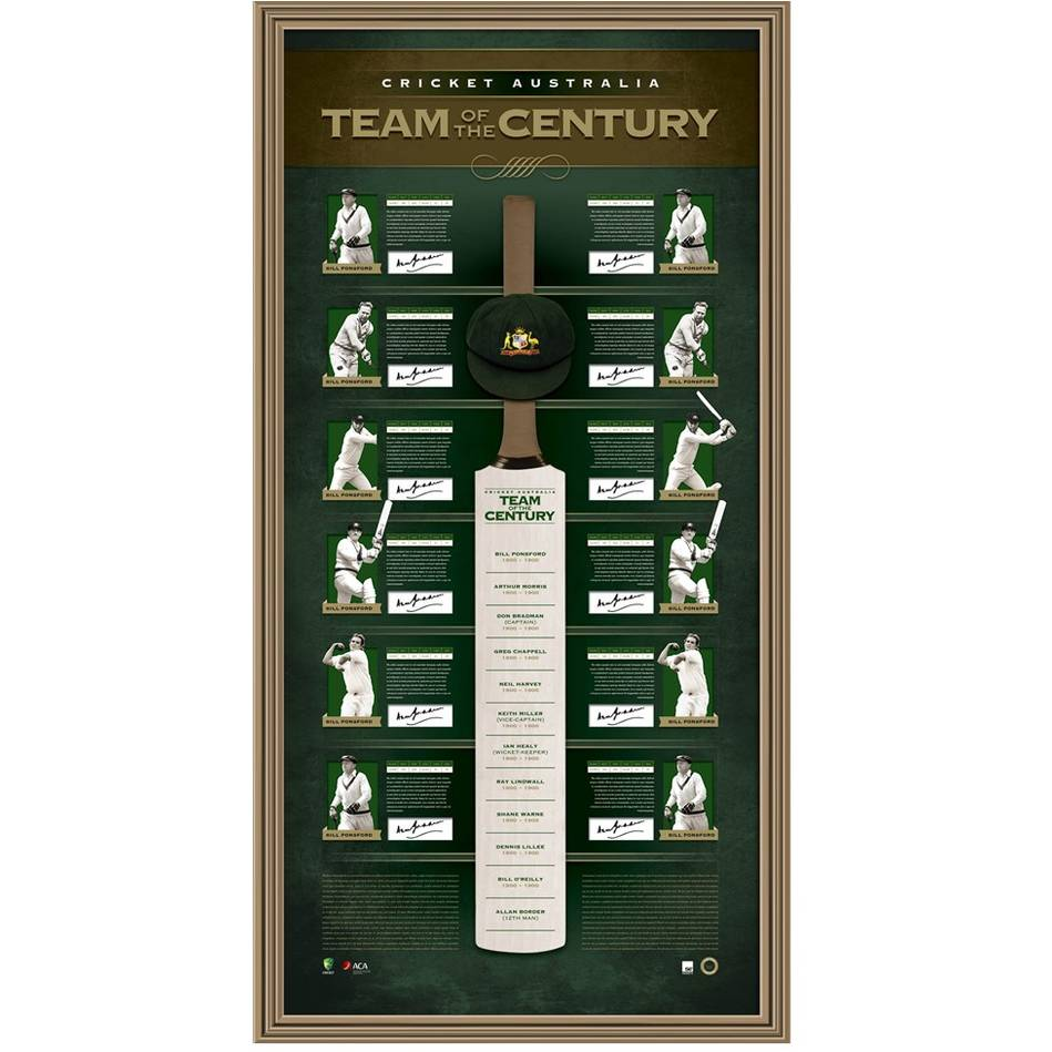 mainEDITION #1 – Team of the Century Signed Bat Display0