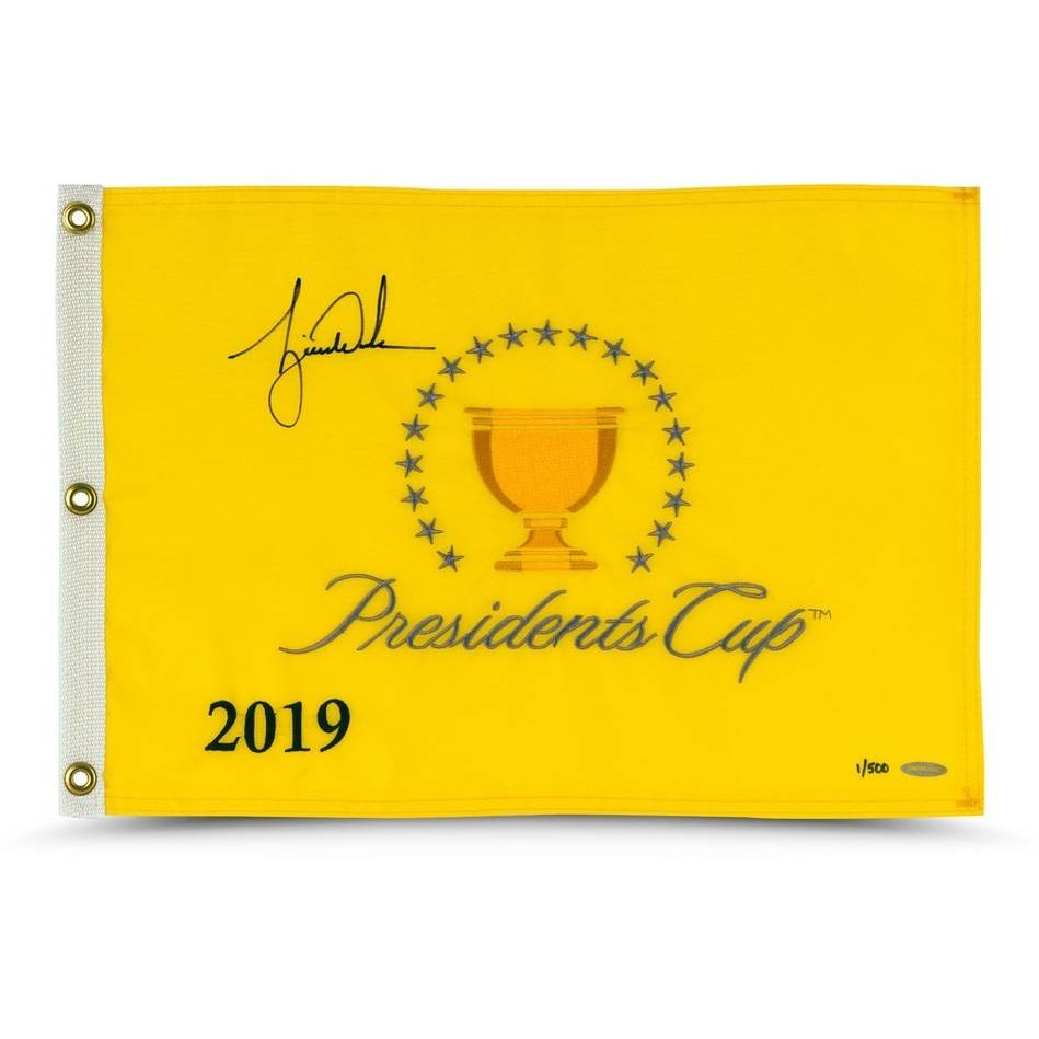 mainTiger Woods 2019 Signed Presidents Cup Pin Flag0