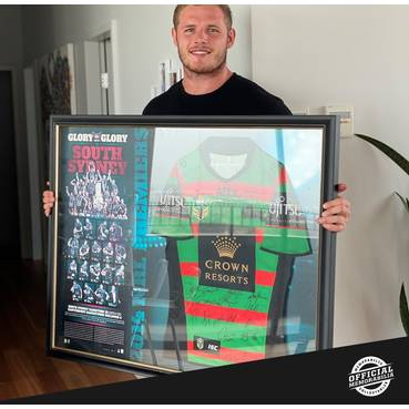 South Sydney Rabbitohs 2014 Premiers Team Signed Jersey - Players Edition