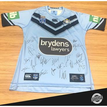 NSW Blues 2019 Team Signed Jersey