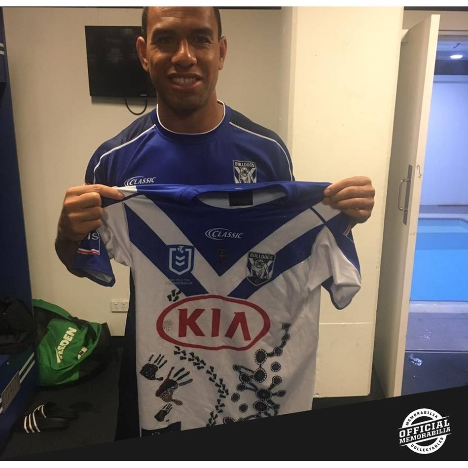 mainWill Hopoate 2019 Indigenous Round Signed Match-Worn Jersey0