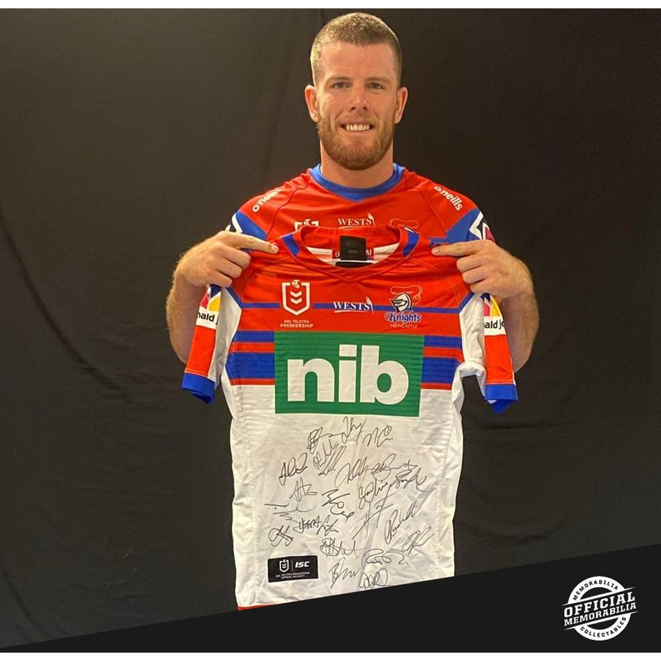mainLachlan Fitzgibbon 2019 Match-Worn Jersey - Newcastle Knights 2020 Squad Signed0