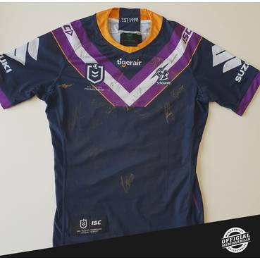 Melbourne Storm 2020 Team Signed Jersey (Home)