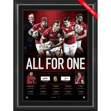BRITISH & IRISH LIONS DUAL-SIGNED 'ALL FOR ONE'