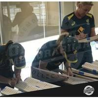 Australia ICC Women's T20 WC 2020 Champions Squad Signed Bat Display2