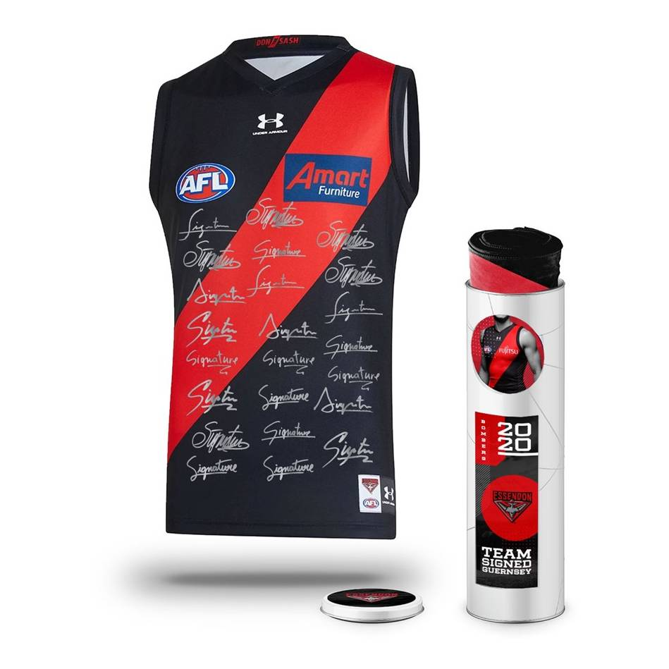 mainEssendon Football Club 2020 Team Signed Guernsey0