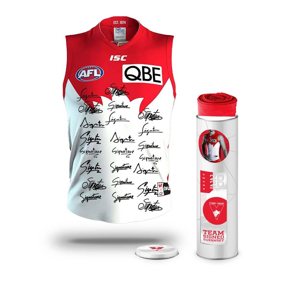 mainSydney Swans 2020 Team Signed Guernsey0