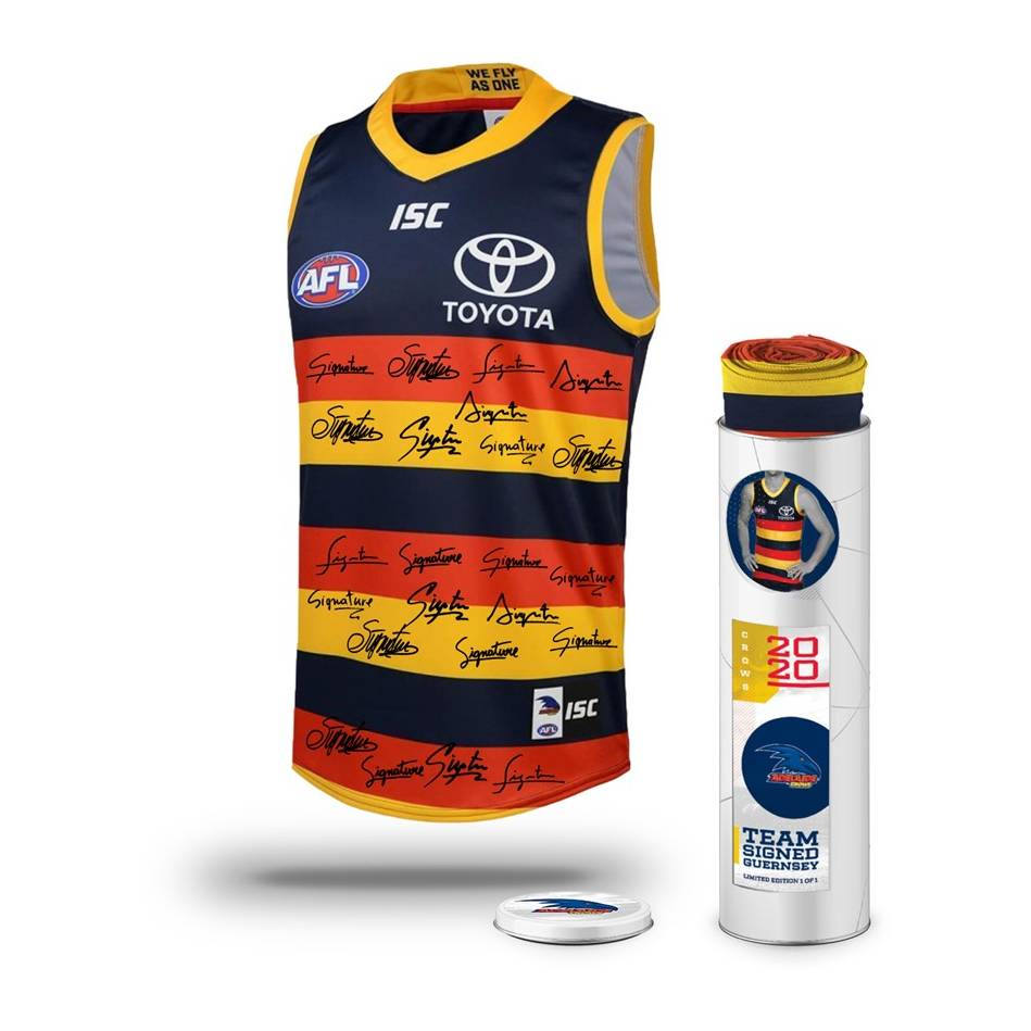 mainAdelaide Football Club 2020 Team Signed Guernsey0