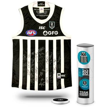 Port Adelaide Football Club 2020 Team Signed Guernsey