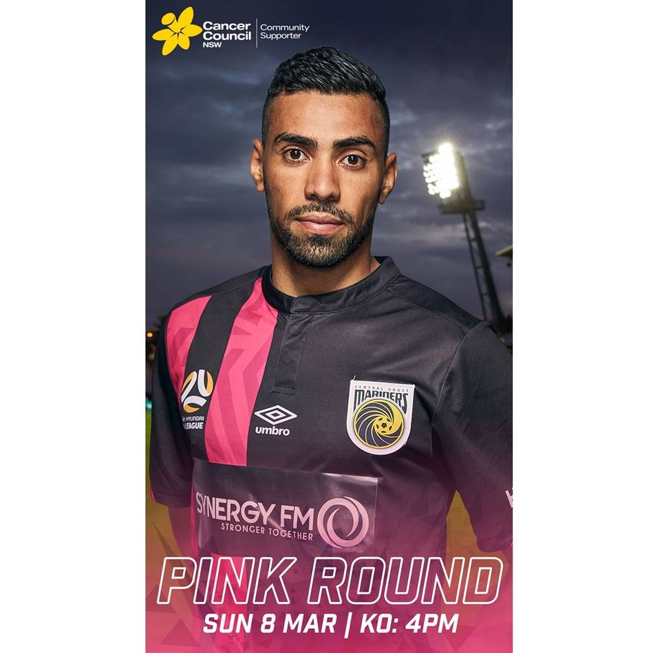 mainJair #29 Central Coast Mariners 2020 Signed Match-Worn Pink Jersey0