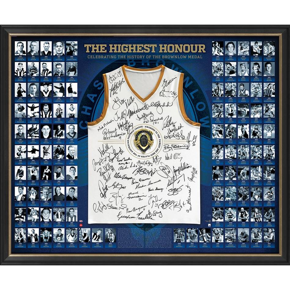 mainEDITION #1 of 1 - AFL 2019 History of the Brownlow Signed Guernsey0