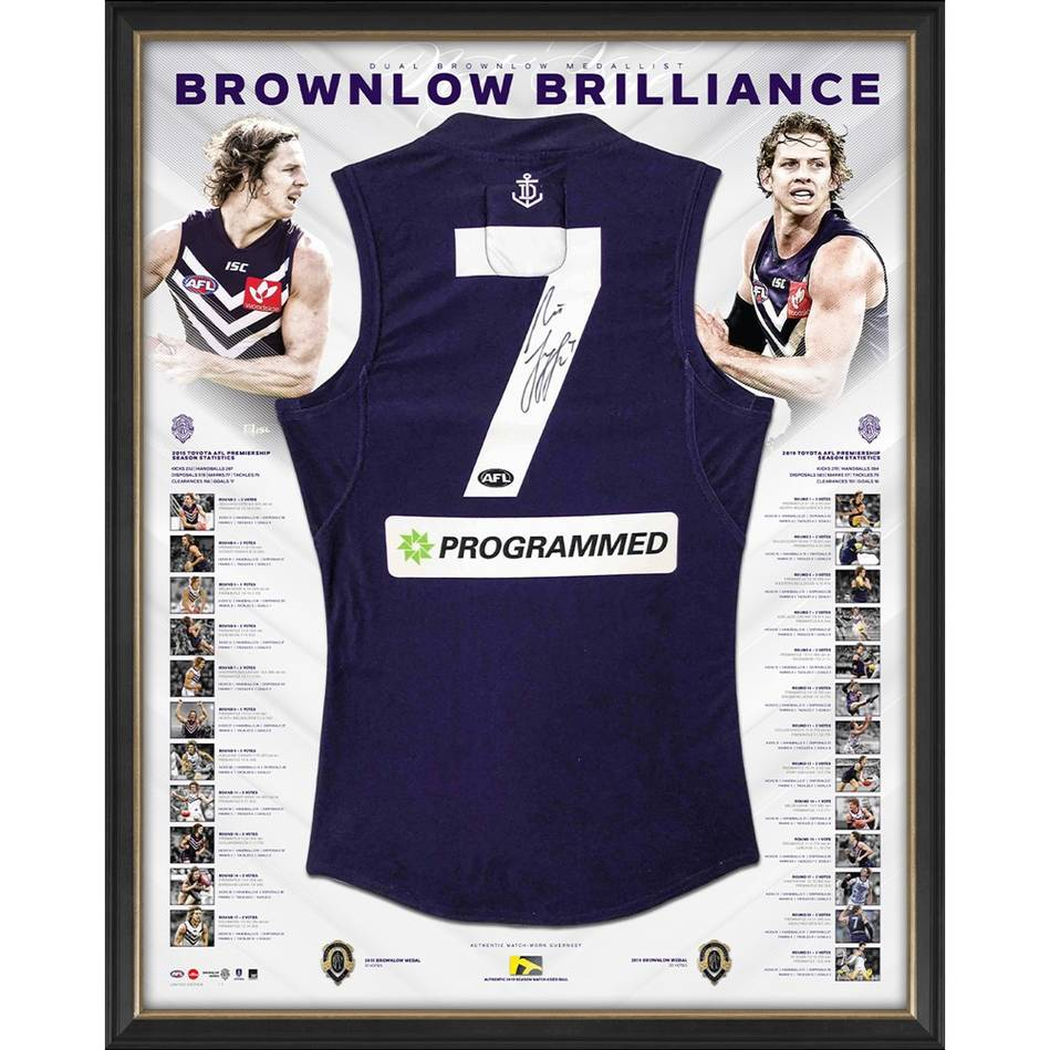 mainNat Fyfe Signed 2015 Match-Used Guernsey Display0